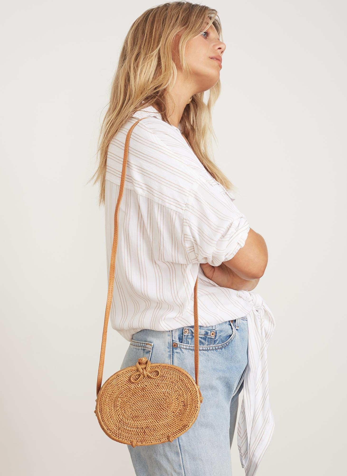 NALA BAG - NATURAL & TAN
