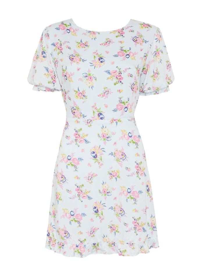Juliette Floral Print - Blue - Florence Mini Dress