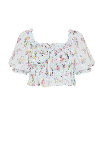 Isadora Top Juliette Floral Blue