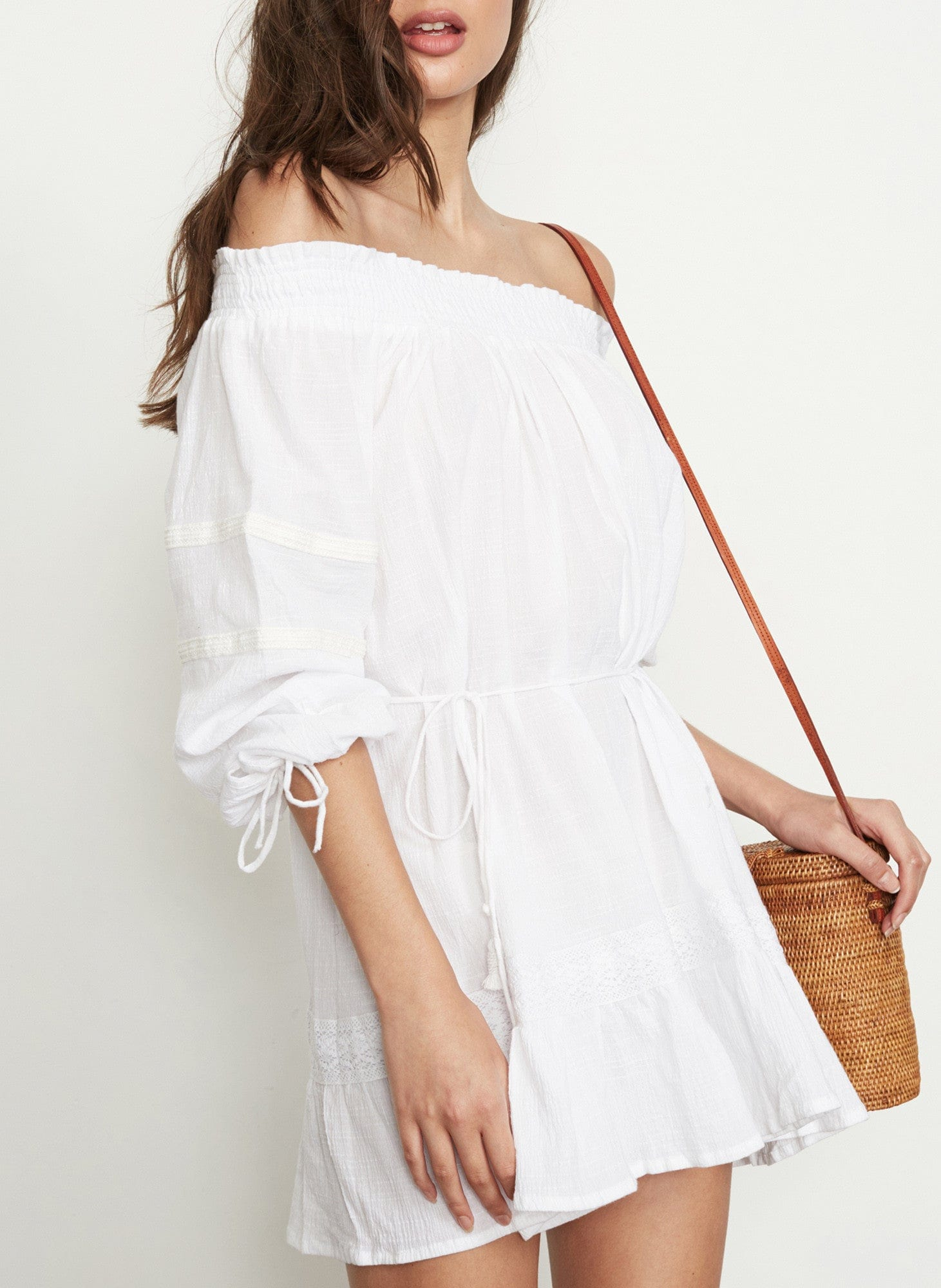 PLAIN WHITE - MILOS DRESS