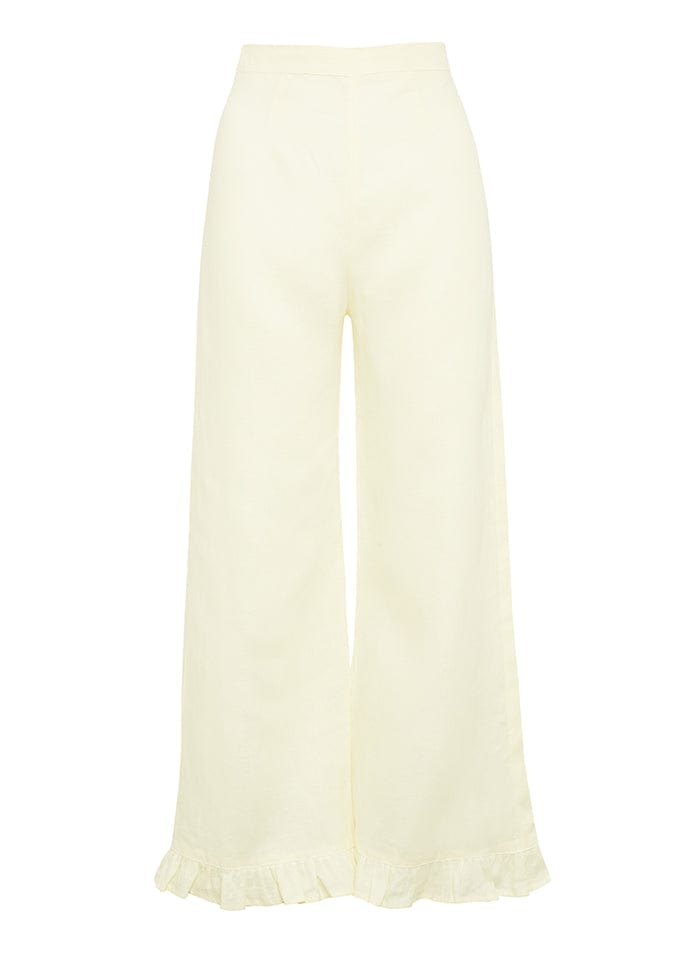 Selma Pants Plain Daffodil Yellow