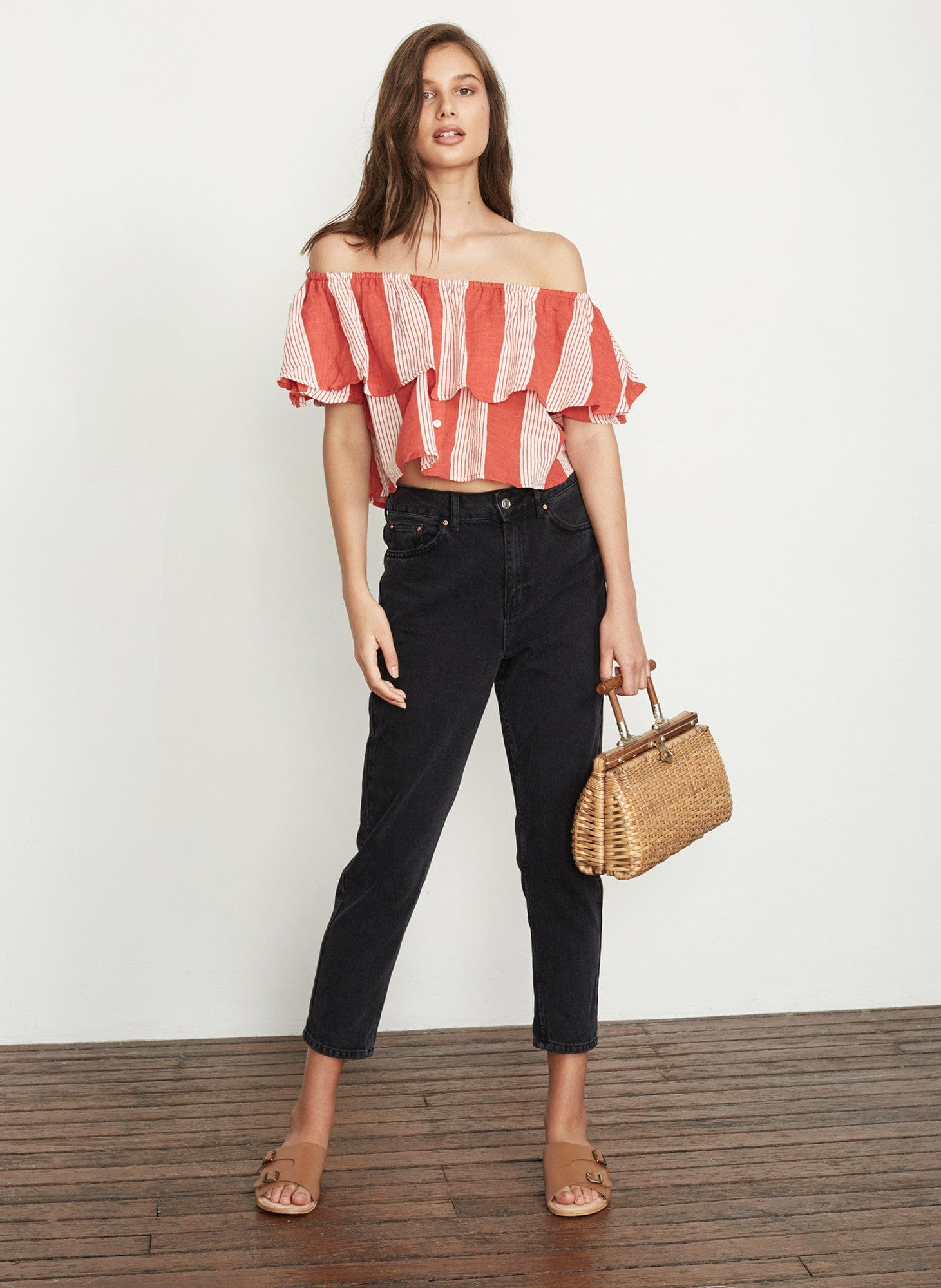 PICNIC STRIPE PRINT - SALERNO TOP
