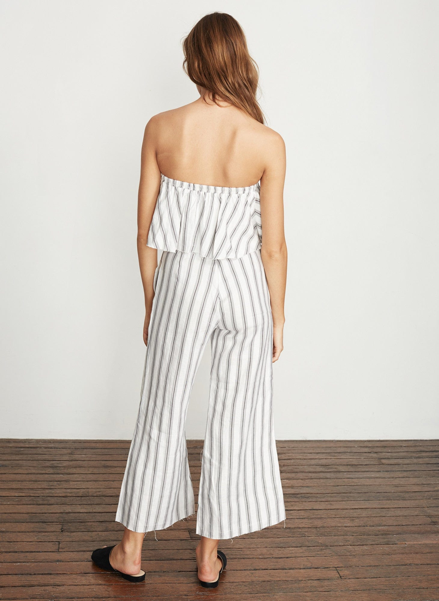 SANDWASH STRIPE PRINT - GREY - SUNS OUT TOP - FINAL SALE