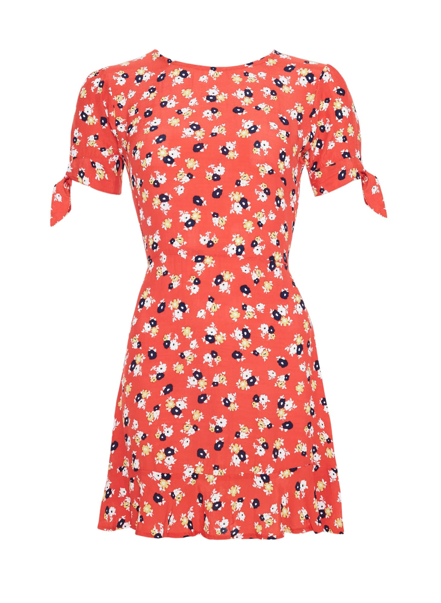 JASMINE FLORAL PRINT - RED - DAPHNE DRESS