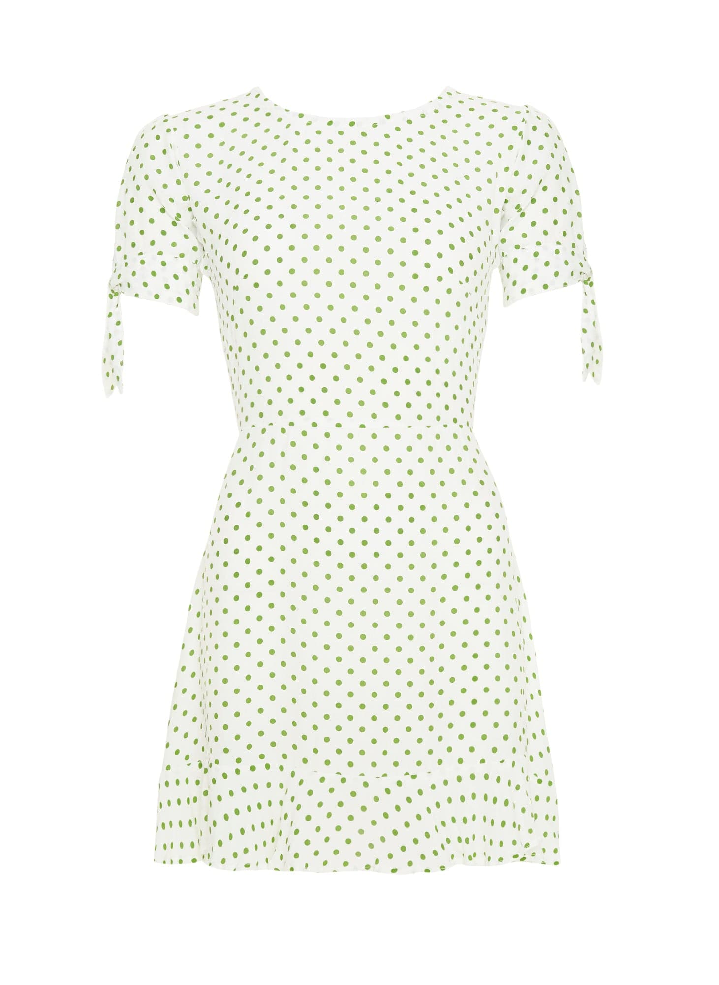 LULA DOT PRINT - GREEN - DAPHNE DRESS