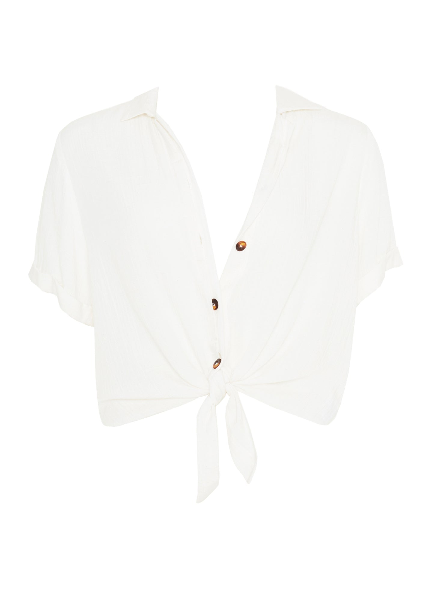 PLAIN OFF-WHITE TEXTURED - TOULIN SHIRT