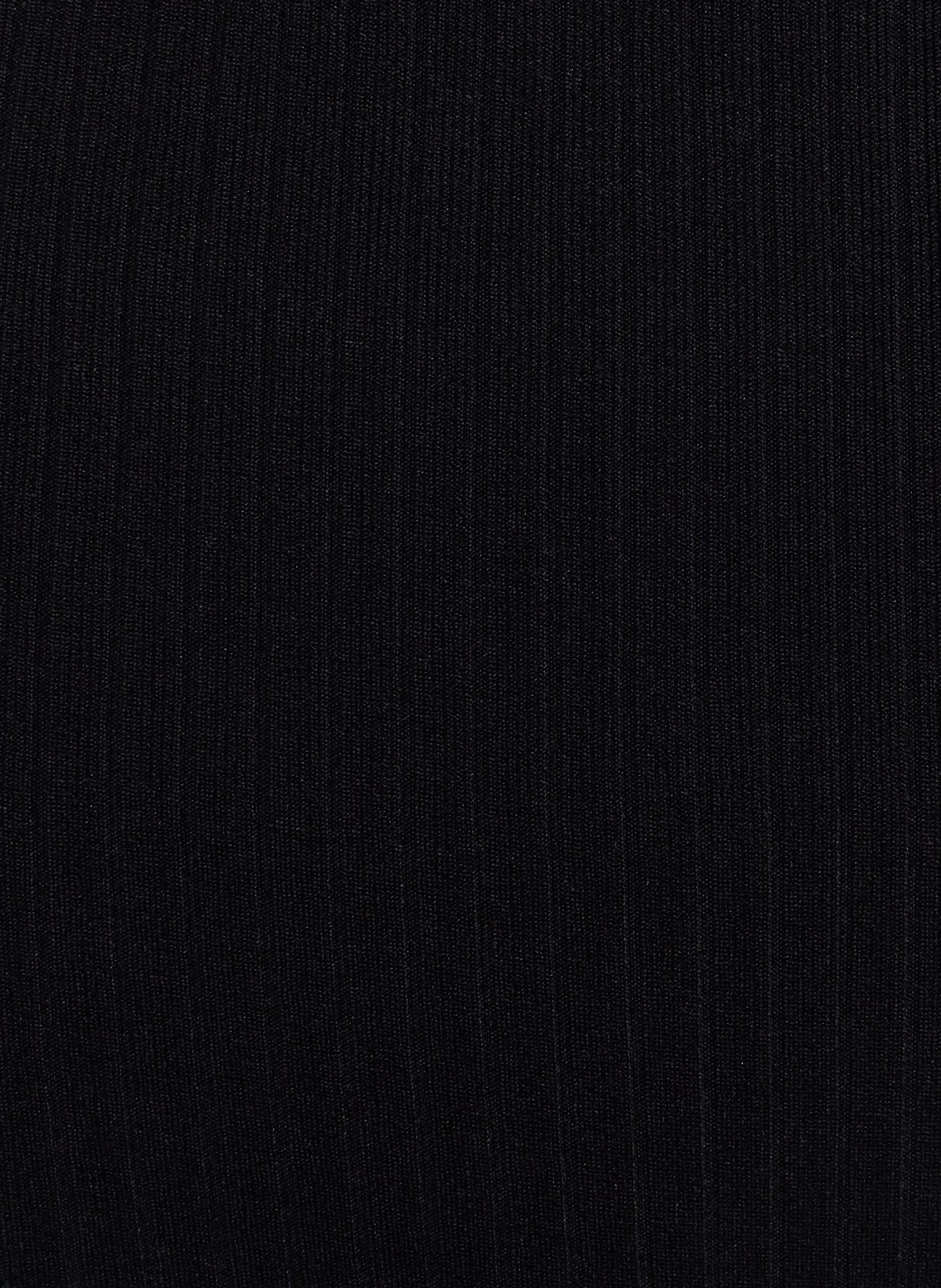 Provence Top Plain Black Ribbing