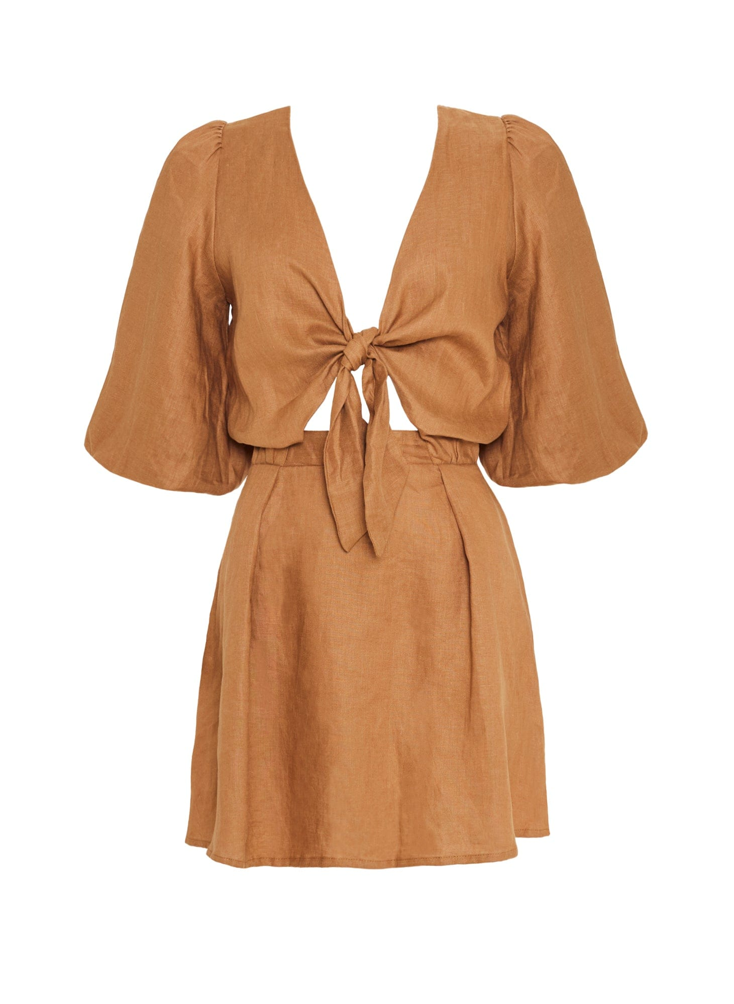 PLAIN CARAMEL - CAMILLE DRESS