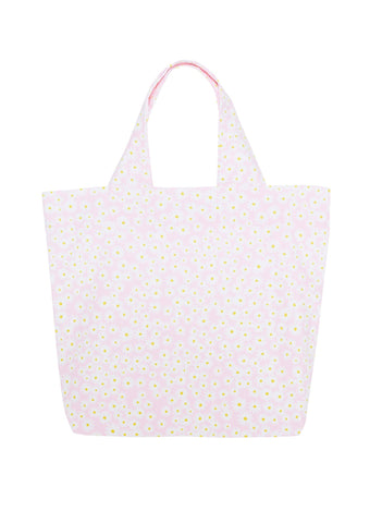 DUSTY FLORAL PRINT - PINK - MARKET TOTE BAG