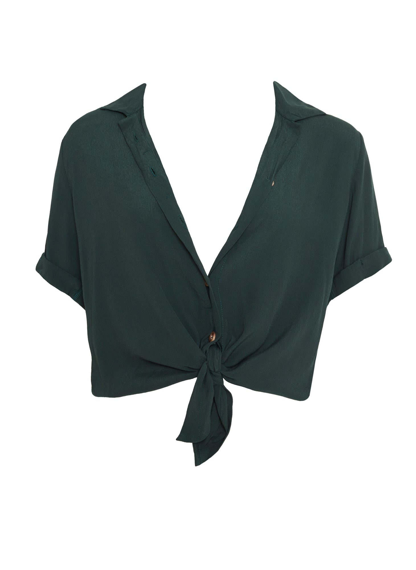 PLAIN PINE GREEN - TOULIN SHIRT