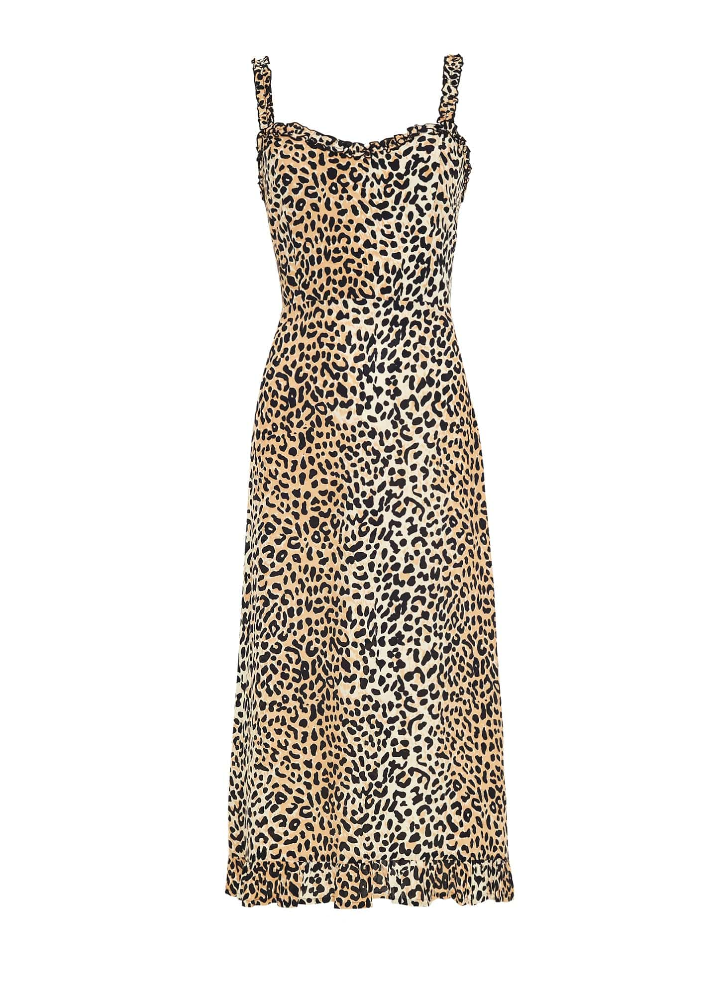 LE CINQ ANIMAL PRINT - NOEMIE MIDI DRESS - FINAL SALE