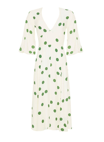 Lolita Dot Print - Green - Marine Midi Dress - Final Sale