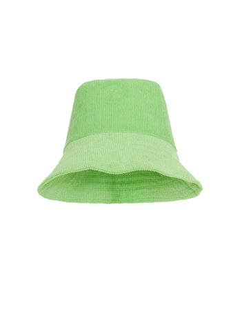 Corduroy Bucket Hat - Plain Apple Green - Bucket Hat