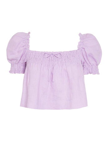 PLAIN IRIS - LILLA TOP
