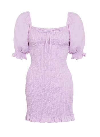 Annibelis Mini Dress Plain Iris