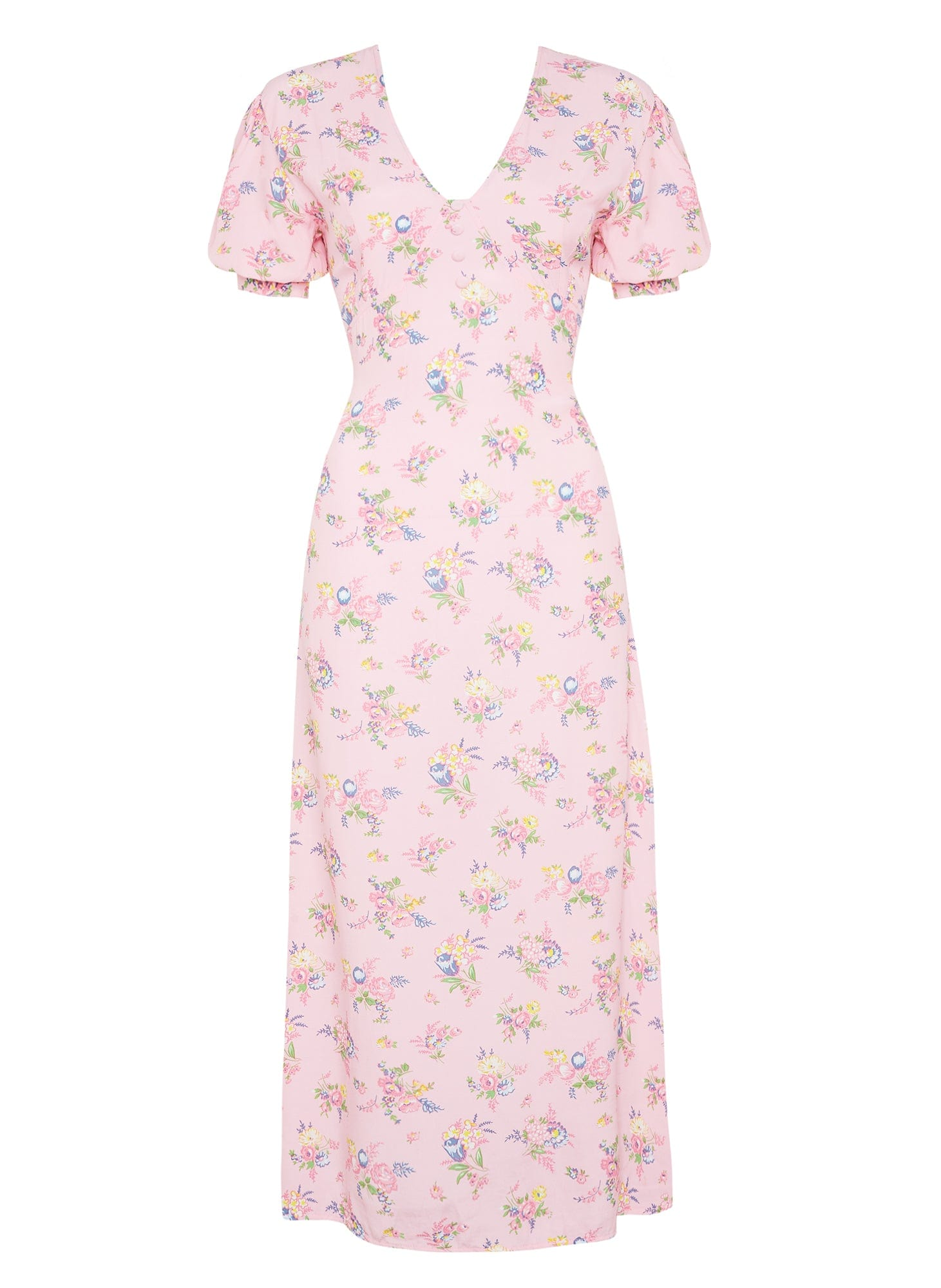 Daija Midi Dress Juliette Floral Pink