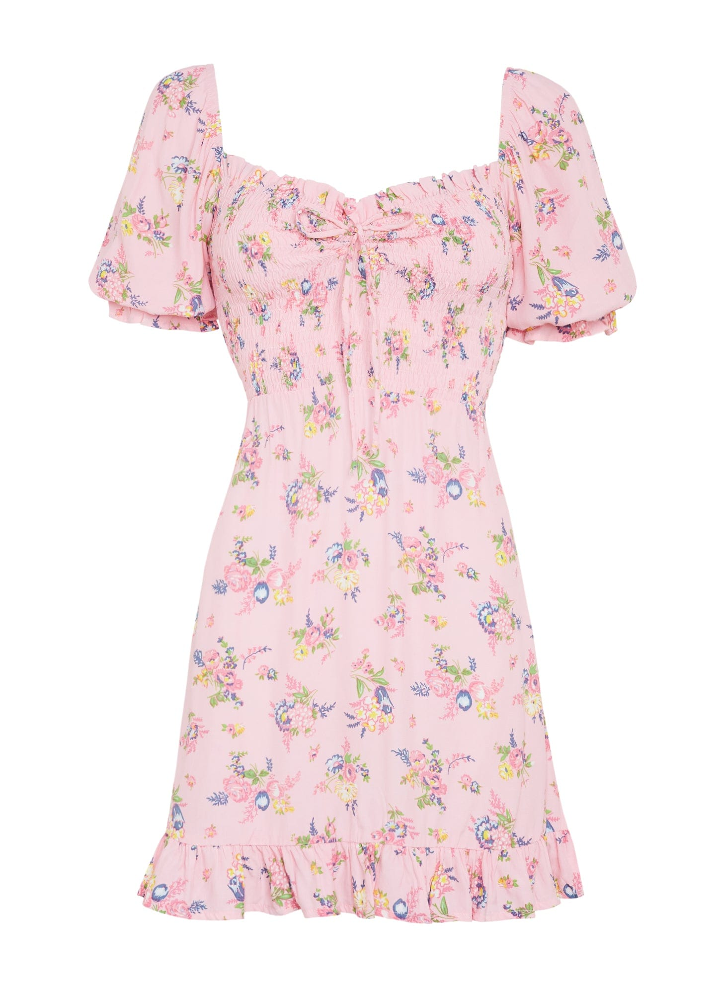Sage Mini Dress Juliette Floral Pink