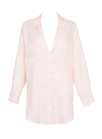 Marbella Shirt Plain Pale Pink -Final Sale