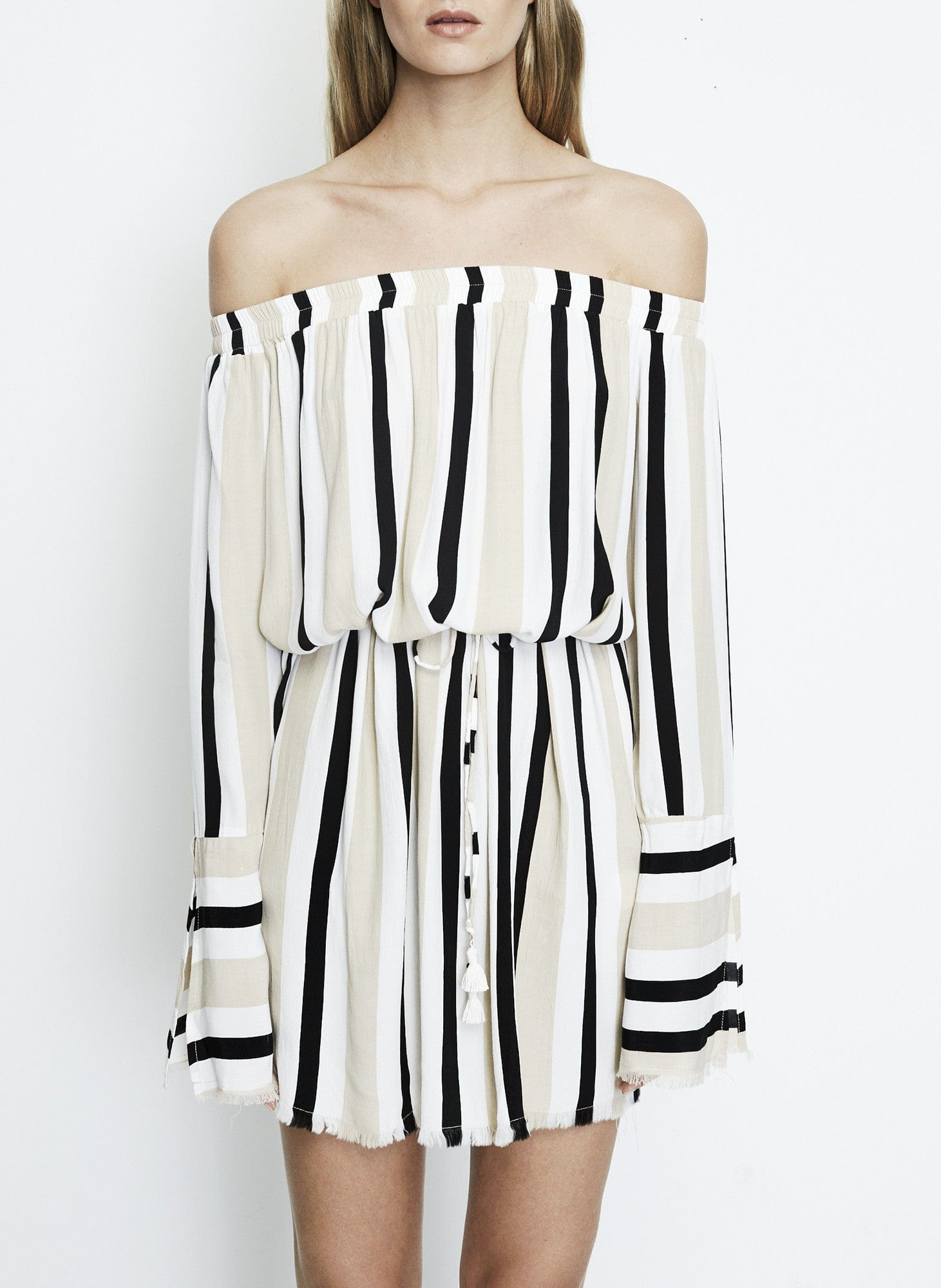 RETRO STRIPES - NAUMI DRESS - FINAL SALE