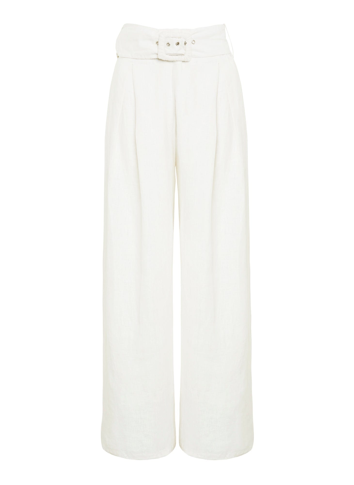 Plain Egg White - Lena Wide Leg Pants