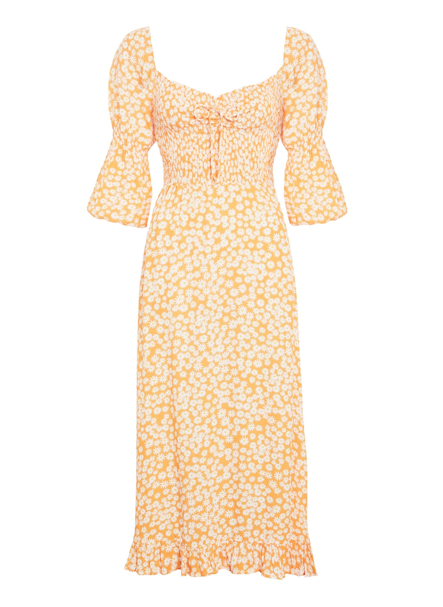 Nora Midi Dress Dusty Floral Orange