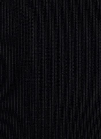 Plain Black Ribbing - Mona One Piece
