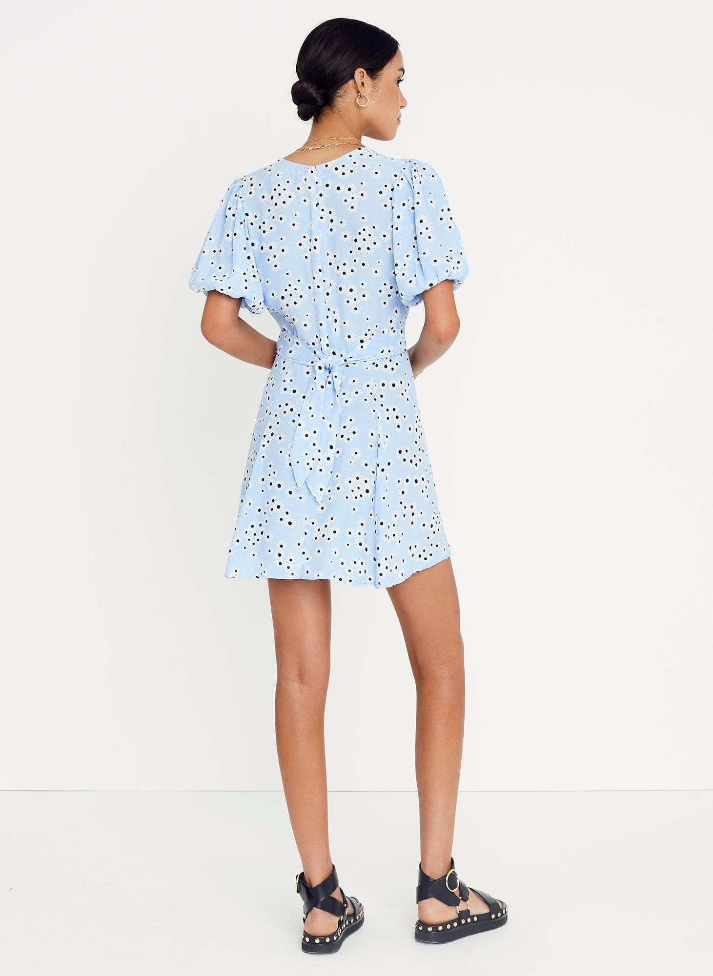 ESSA FLORAL PRINT - RIVIERA BLUE - ILIA MINI DRESS