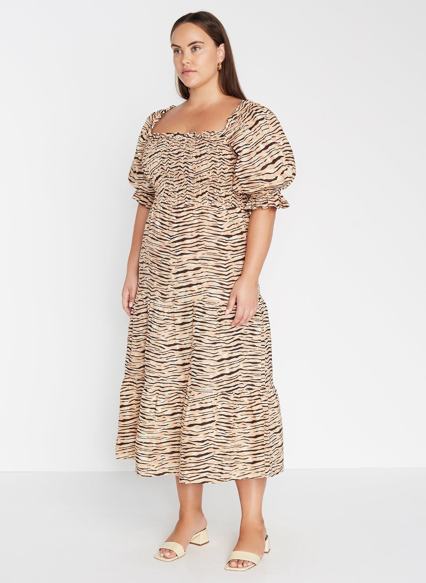 De Christin Midi Dress Wyldie Animal