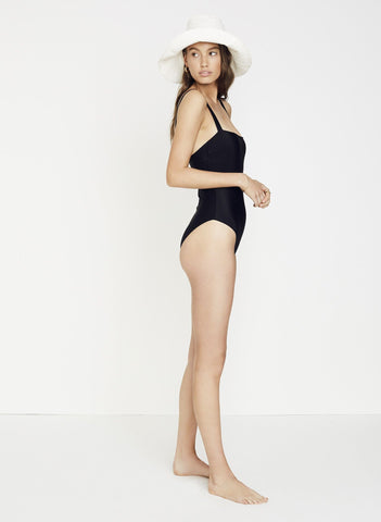 PLAIN BLACK RIBBING - PHOEBE ONE PIECE