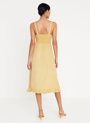 CERETTI CHECK PRINT - DESERT - NOEMIE MIDI DRESS