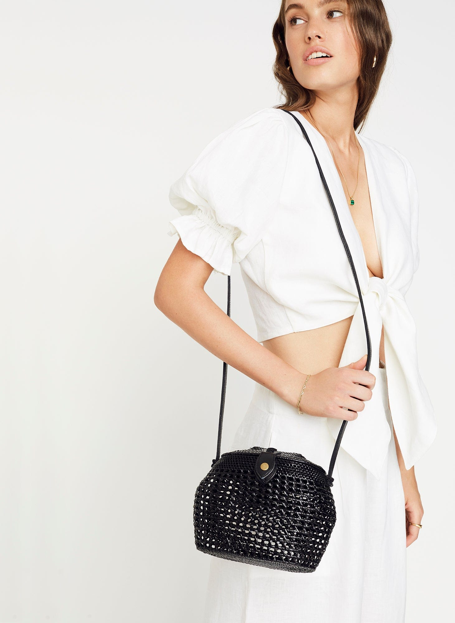 Plain Black - Paloma Shoulder Bag