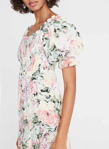 Venissa Floral Print - De Christin Midi Dress