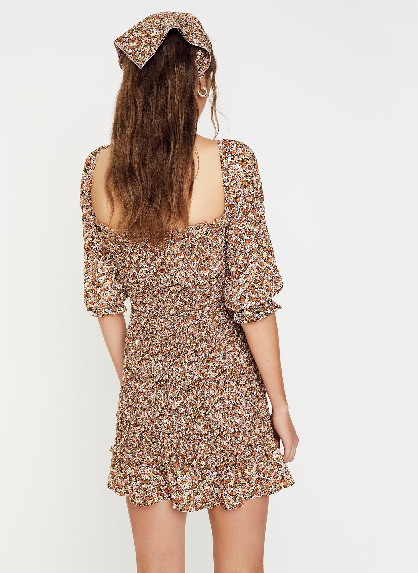 Mathiola Floral Print - Es Saada Mini Dress
