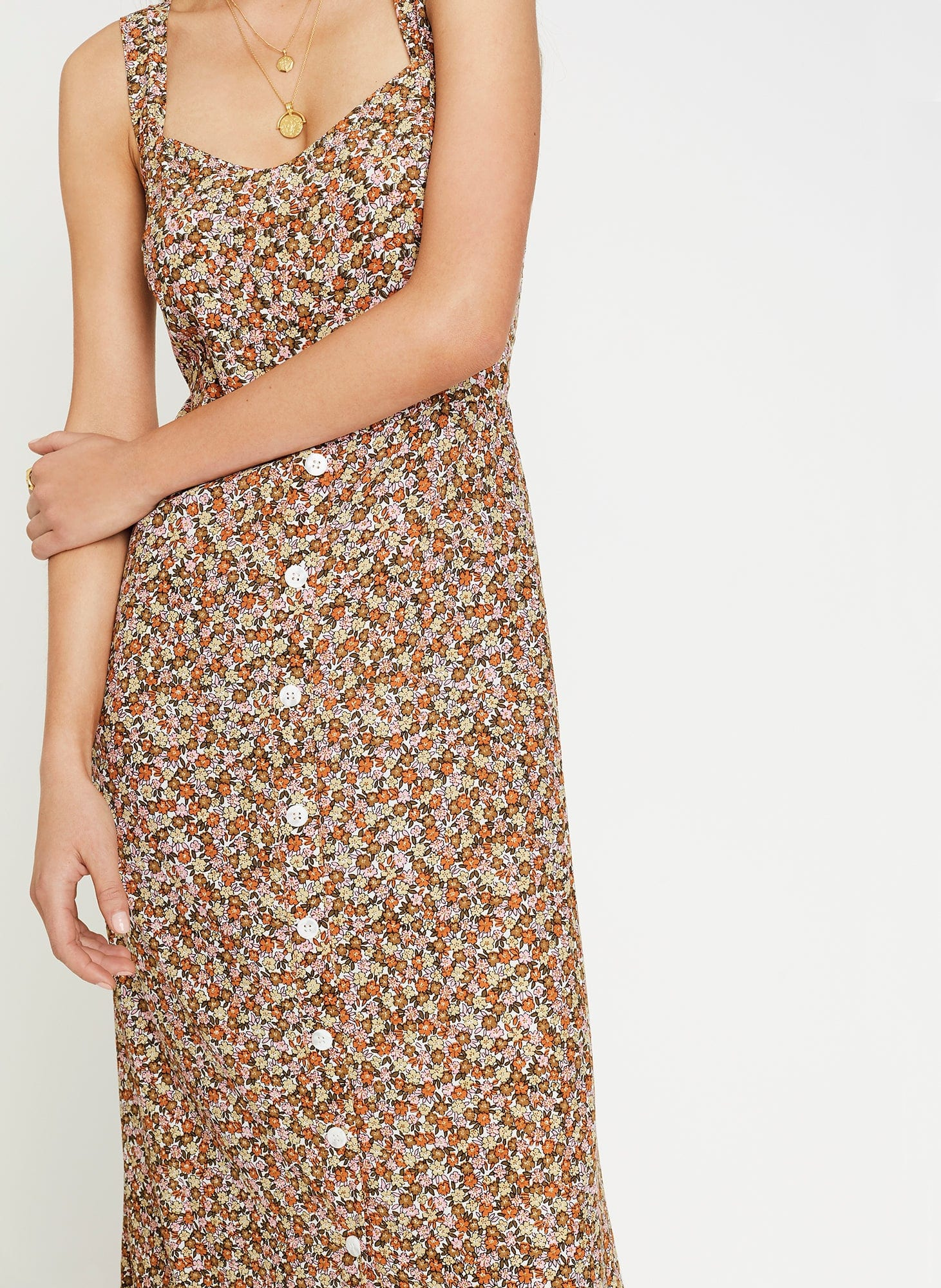 MATHIOLA FLORAL PRINT - YASMIN MIDI DRESS