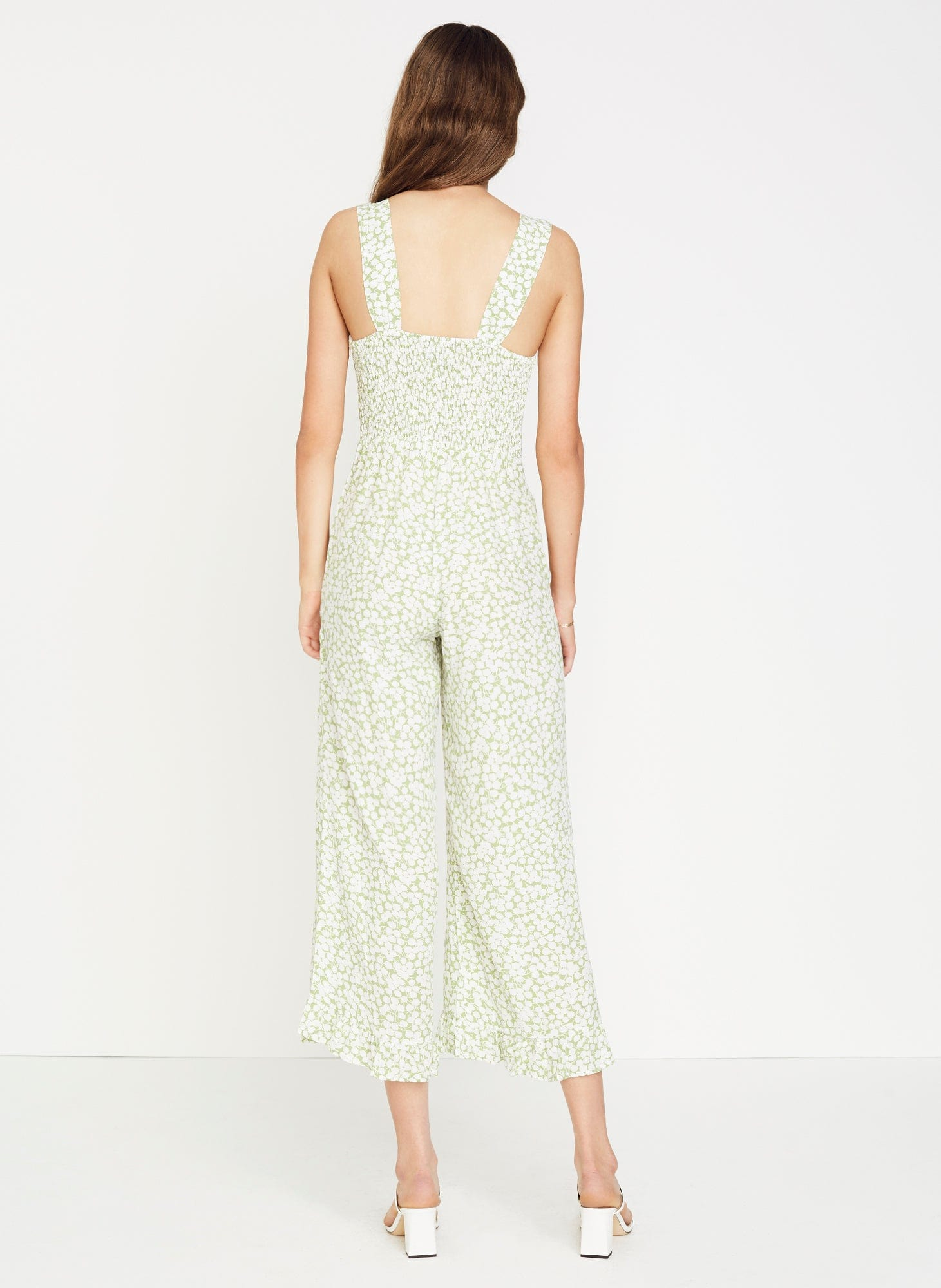 BELLA FLORAL PRINT - AVOCADO GREEN - BODHI JUMPSUIT