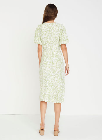 Bella Floral Print - Avocado Green - Marta Midi Dress