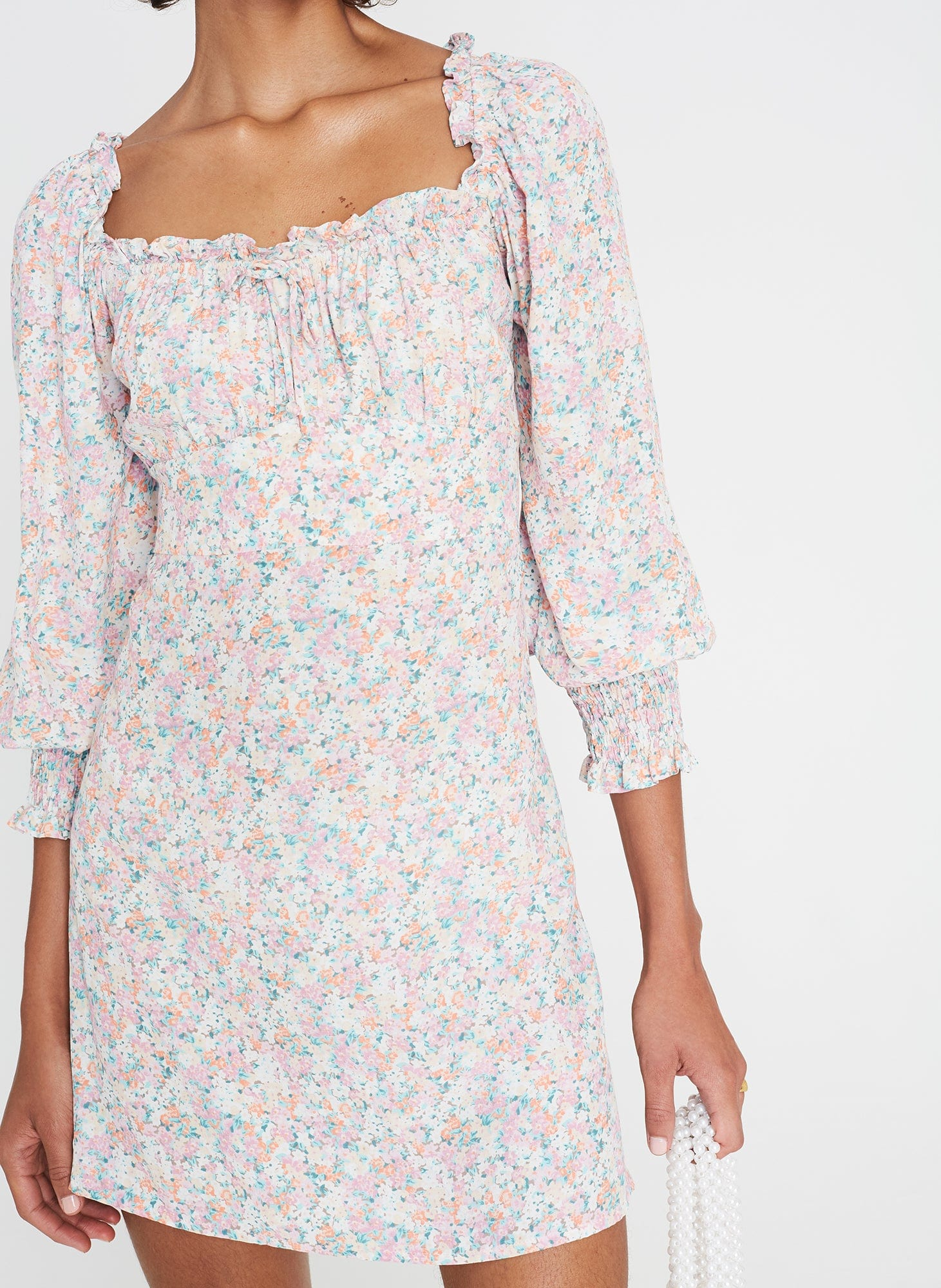 Vionette Floral Print - Pink - Ira Mini Dress