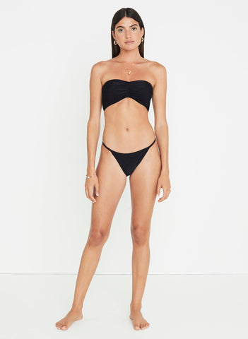 Plain Black Ribbing - Steffy Bikini