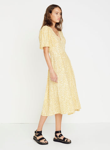 PETRA SNAKE - NATURAL - DELIA MIDI DRESS