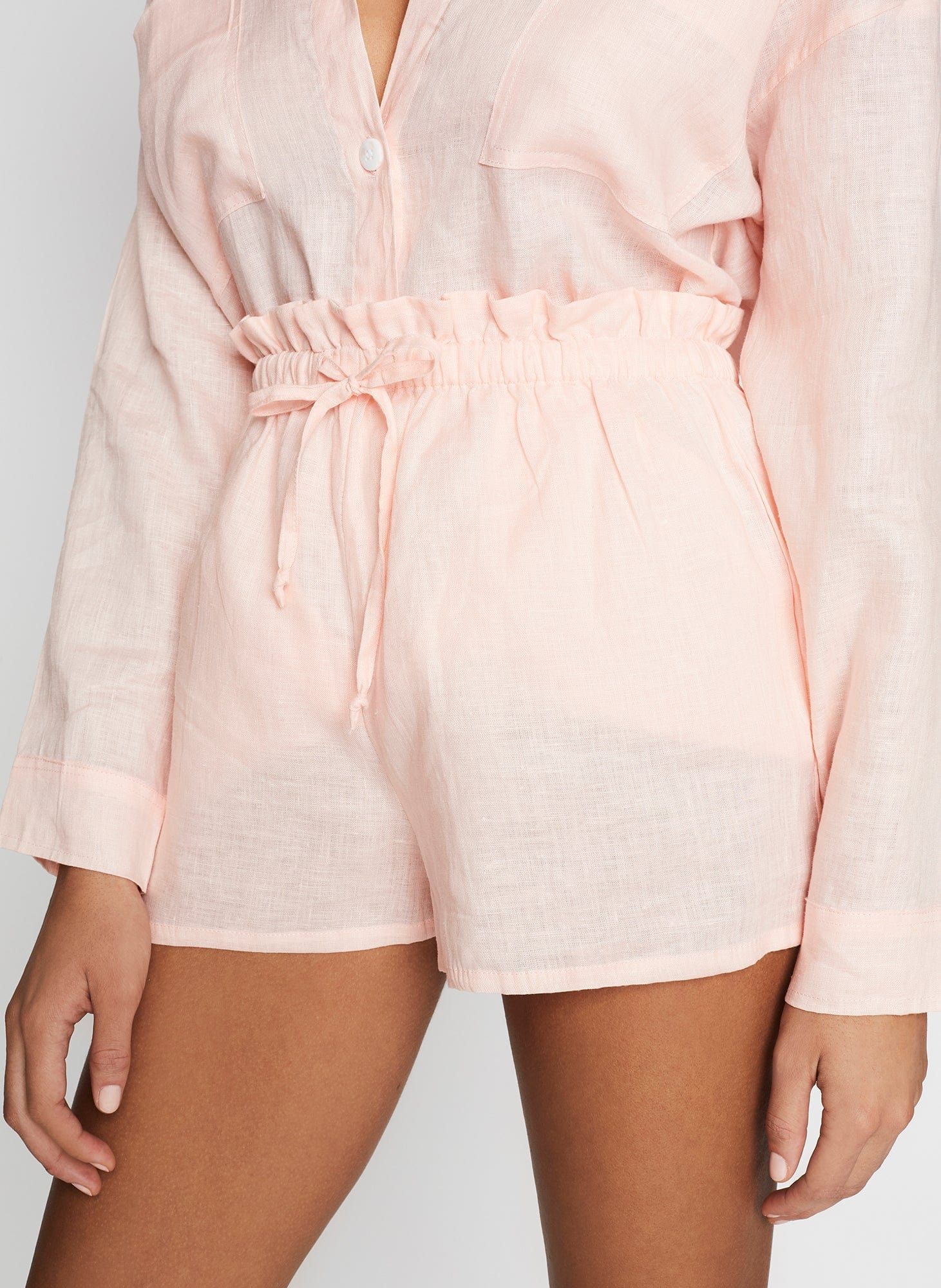PLAIN PALE PINK - ANJA SHORTS
