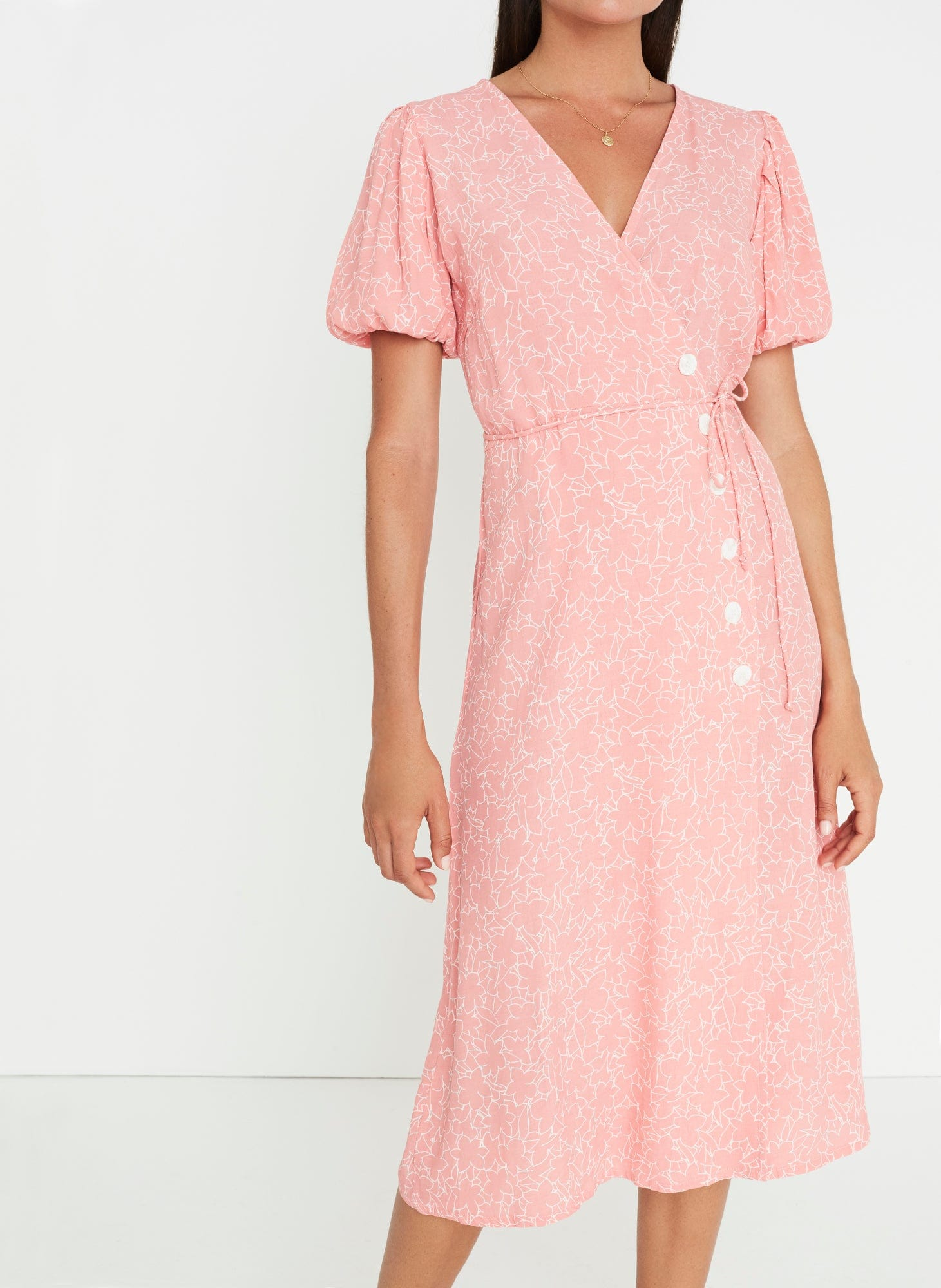 Fran Midi Dress Maurie Floral -Final Sale