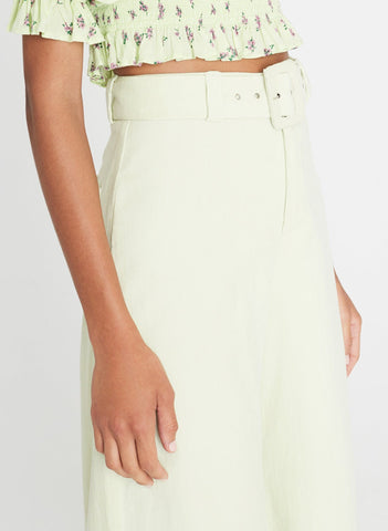 Rose Wide Leg Pants Plain Avocado Green