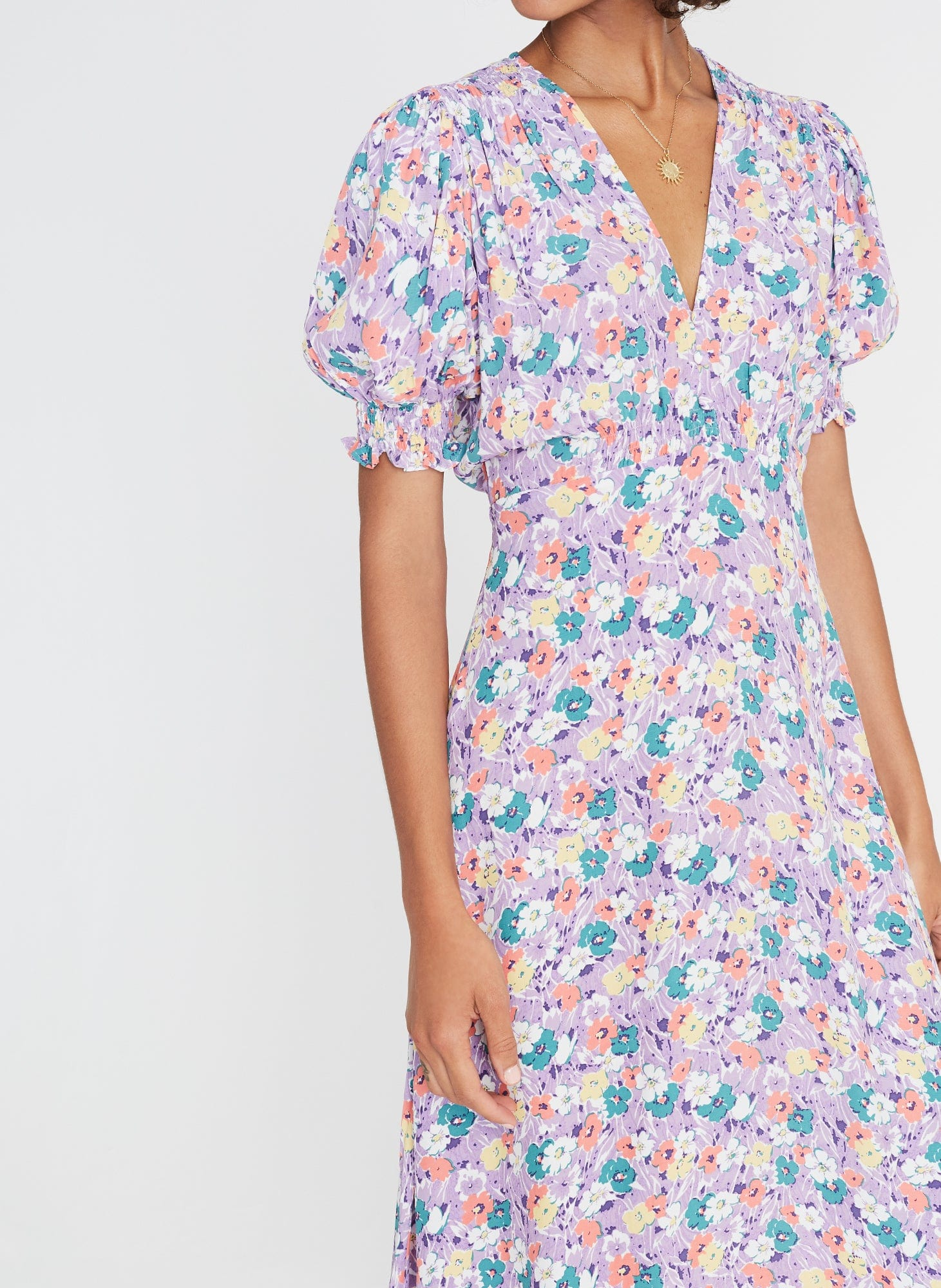 Marie-Louise Midi Dress Nefeli Floral