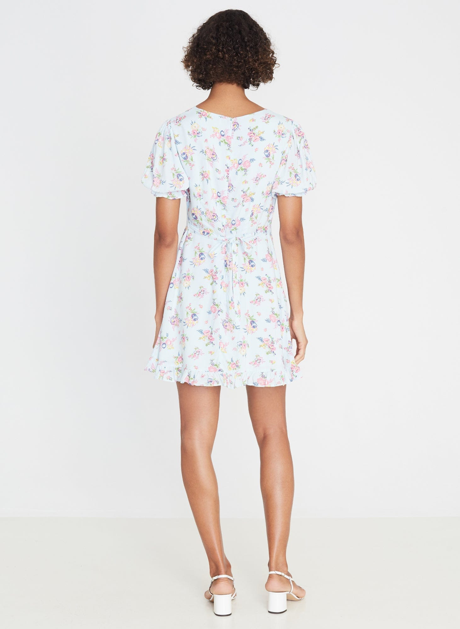 Florence Mini Dress Juliette Floral Blue