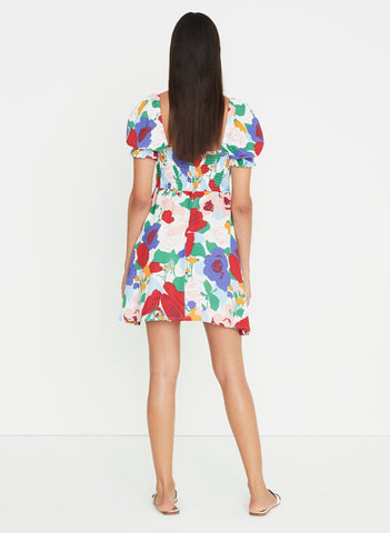 Anita Floral Print - Iris Mini Dress