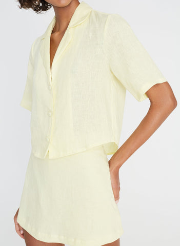 Chaumont Shirt Plain Daffodil Yellow