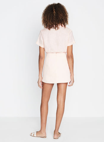 Rubina Mini Skirt Plain Pale Pink -Final Sale