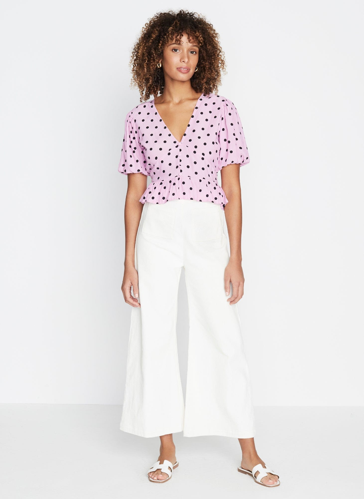 Mona Top Sylve Dot Lilac