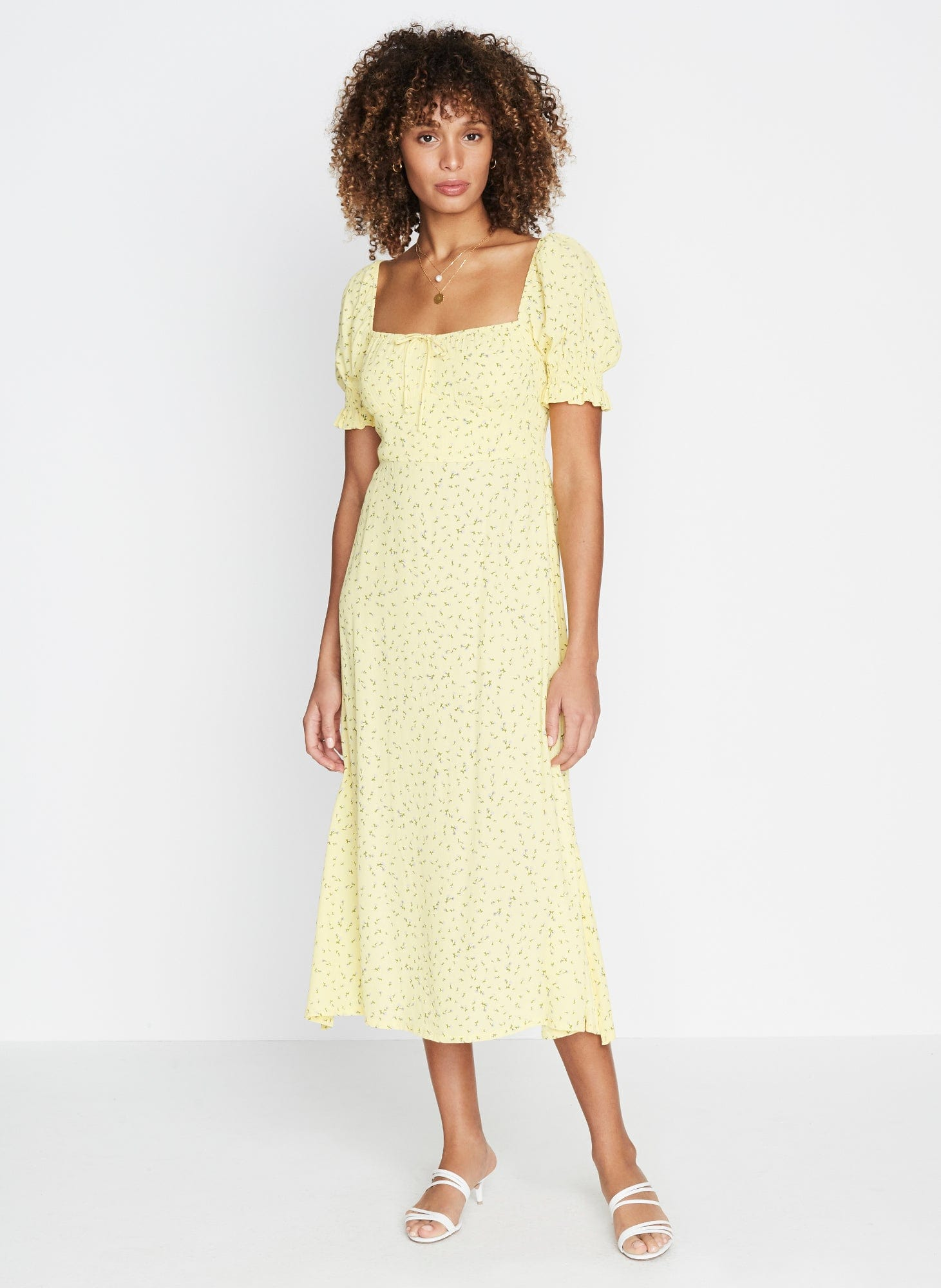 LA FICA FLORAL PRINT - EVELYN MIDI DRESS
