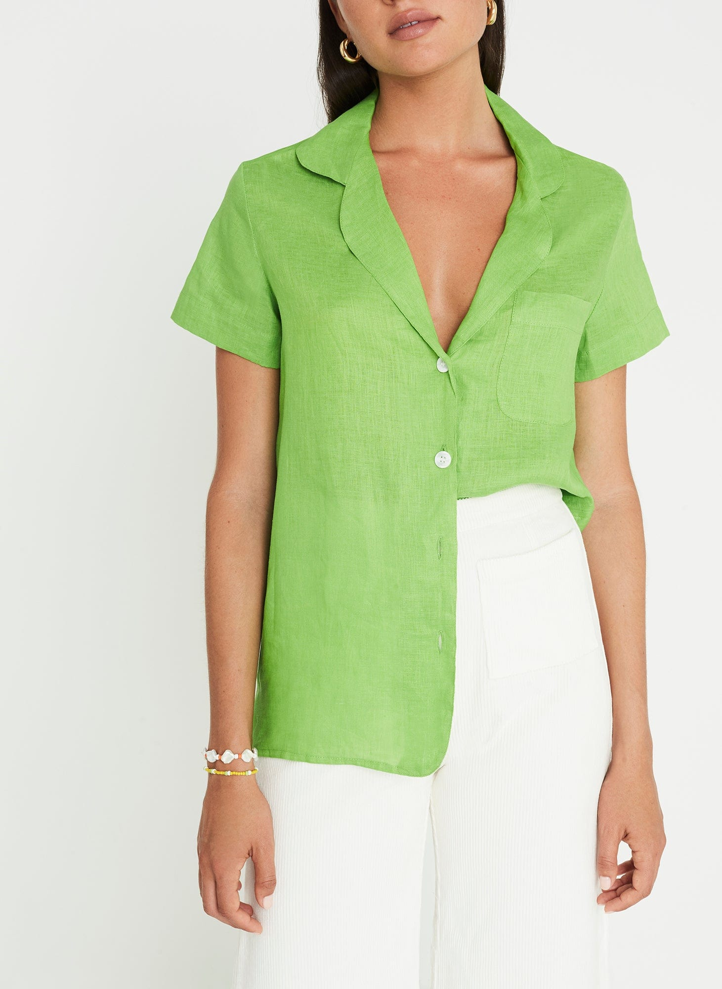 Maisy Shirt Plain Apple Green
